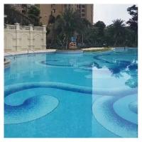 佛山 经典天蓝色游泳池马赛克 陶瓷马赛克拼图