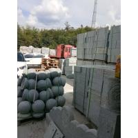 芝麻灰圆球-路障球-车阻石球-衡阳花岗岩石球供应