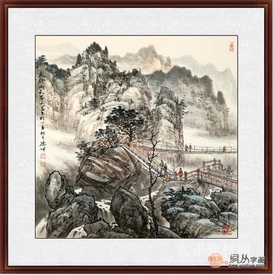 名家国画作品欣赏 易从网斗方山水国画专辑