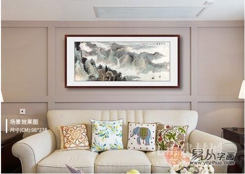 简约风格客厅挂什么字画?唤醒你的审美欲望