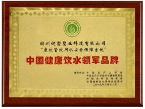 康饮管饮用水安全保障系统斩获中国健康饮水领军品牌殊荣