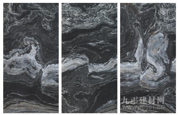 高德·巖板瓷磚黑色連紋系列:不掩光芒