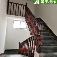 室內雕花實木樓梯 實木樓梯定制