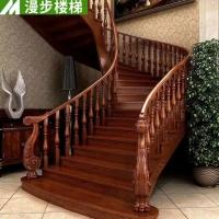 漫步家用复式实木楼梯