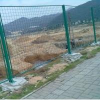 厂家定制高速公路桥梁防抛网 浸塑工地钢丝浸塑护栏网