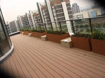 大連塑木地板防腐地板塑木棧道