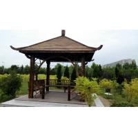 大連涼亭藤架塑木地板防腐地板塑木棧道花箱公園椅