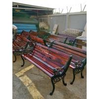 大连公园椅长椅铸铁休闲椅防腐木公园椅