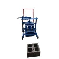 鞏義龍聯小型移動空心磚機 可定做半自動圓孔空芯制磚機無需地基