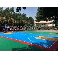 拼装地板篮球场施工建设 塑胶篮球场专业施工建设工程