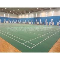 廣州塑膠PVC羽毛球場建設室內羽毛球場價格
