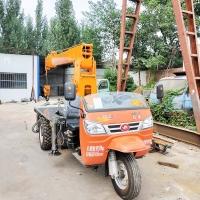 自制农用三轮车吊车 三轮车自带吊机 小型起重设备3吨 移树背