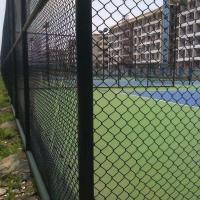 济南球场护栏网 学校操场框架围栏 1.8×3喷塑铁丝网