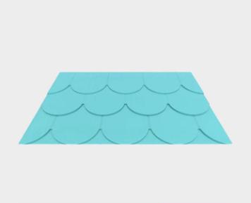 魚鱗型金屬復合瓦
