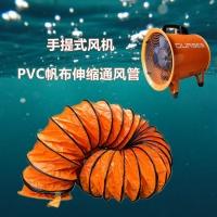上海欧雷塞斯手提式风机PVC帆布伸缩通风管