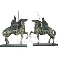 玻璃钢大型骑士雕塑罗马武士雕塑酒店入口罗马骑士摆件