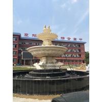 城市景观人造砂岩喷泉雕塑 园林景观欧式喷泉摆件