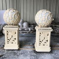 别墅欧式镂空柱墩透光灯饰 人造砂岩灯罩 仿砂岩灯罩