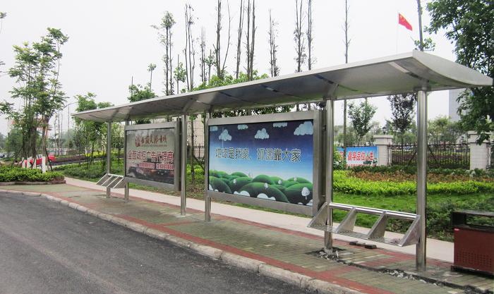 不锈钢公交车站台004