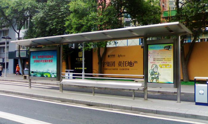 不锈钢公交车站台008