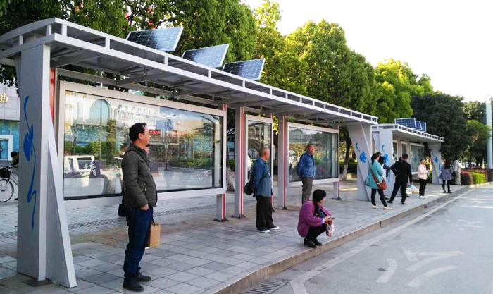 太阳能公交站台006