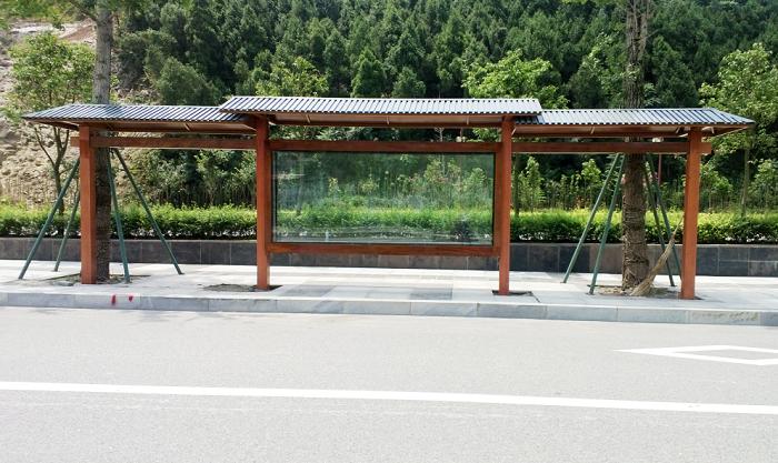 中式古典公交站台006