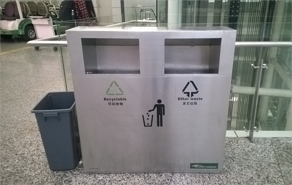 地铁垃圾箱