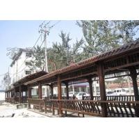 景区防腐木长廊订做 长廊式花架