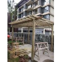重慶戶外花園葡萄架花架欄桿圍欄防腐木地板