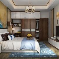 欧派新中式风格卧室衣柜