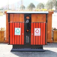 镀锌板防腐木垃圾箱生产