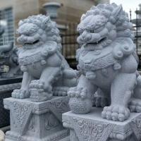 咸宁石狮子厂家,花岗岩石狮子,石雕狮子工厂,咸宁大理石狮子
