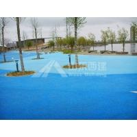 青岛交地彩色彩色透水地坪特价畅销 彩色多孔混凝土优质供应
