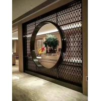 厂家直销古铜拉丝不锈钢酒店大门不锈钢屏风款式定制