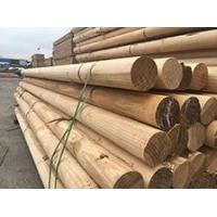 致禾木業輻射松圓柱戶外防腐木涼亭立柱