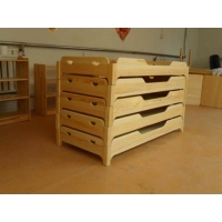 郑州幼儿园床 幼儿园实木床  幼儿园叠叠床