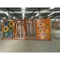 河南鄭州幼兒園大型實木攀爬架 實木組合滑梯