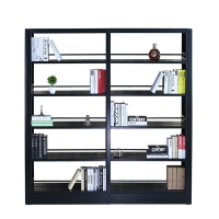 贵阳图书馆书架钢制书店学校单双面资料架简易书架置物架