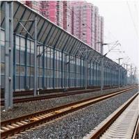 铁路桥梁声屏障 消音降噪阶梯式隔音墙小区声屏障