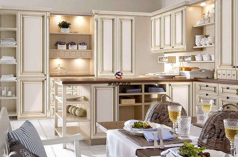 赛嘉实木  法式厨房