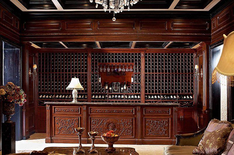 赛嘉实木  美式酒窖