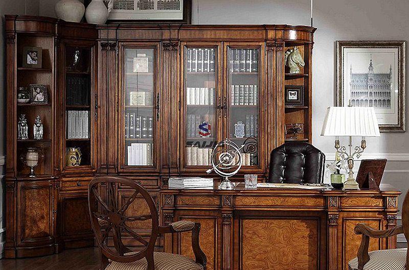 赛嘉实木  美式书房