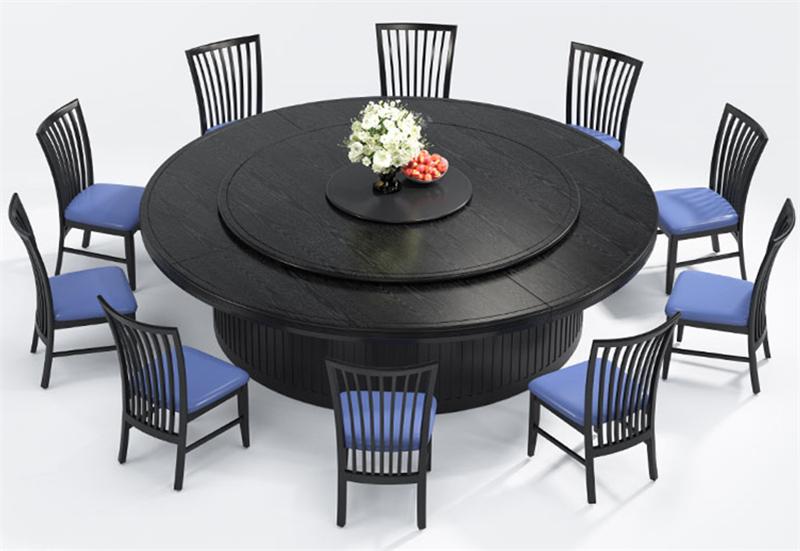 杭州電動圓桌定做|實木餐桌|大理石火鍋桌