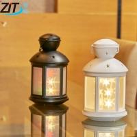 LED3D小夜灯火焰星空氛围灯手提灯创意小礼品智能语音卧室小