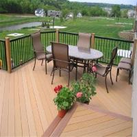 塑木地板 户外庭院花园露台防腐圆孔木塑地板