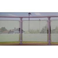 华禹工程批发小区住宅阳台栏杆锌钢玻璃护栏过道玻璃栏杆