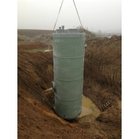 雨水回收泵站南京玻璃钢一体化预制泵站