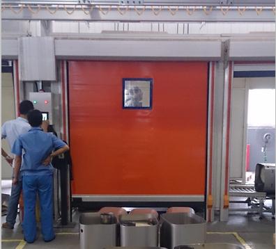 焊接防护感应门  物流车间感应门 PVC感应门定制