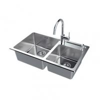 南京美标洁具-厨房水槽方形双槽台上厨盆FFASX120