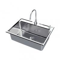 南京美标洁具-厨房水槽大单槽台上厨盆FFASX116